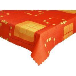 Forbyt  Ubrus s nešpinivou úpravou, Geometrie, červený 160 x 220 cm