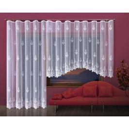 Forbyt, Hotová záclona nebo Balkonový komplet, Helga 250 x 120 cm bílá