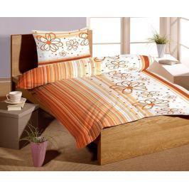 Forbyt Povlečení bavlna KREP exklusive Florida orange 140 x 200 cm + 70 x 90 cm