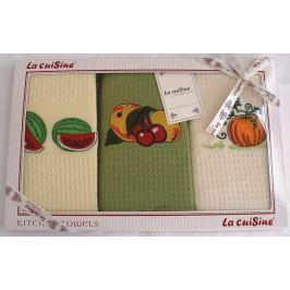 Forbyt, Dárkové balení 3 ks bavlněných utěrek, Ovoce, 50 x 70 cm