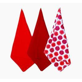 Forbyt, Utěrka bavlněná, Sophia sada 3 ks, 45 x 70 cm, červená