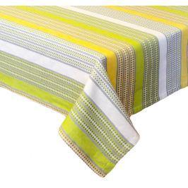 Forbyt, Ubrus bavlněný, Stripe zelený, obdélník 120 x 140cm