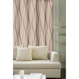 Forbyt, Závěs dekorační, OXY Vlnky 150 cm, fialová