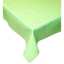 Forbyt, Ubrus s nešpinivou úpravou, Čtverečky, kulatý zelená 130 x 160 cm ovál