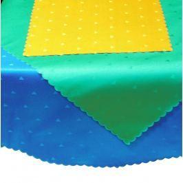 Forbyt, Ubrus s nešpinivou úpravou, trojúhelníky tmavě zelená pr.140 cm