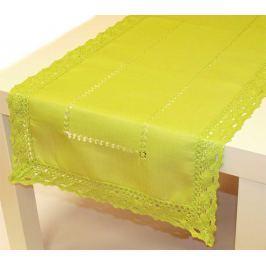 Forbyt, Ubrus celoroční, Vintage colour, zelený, obdélník 40 x 90 cm