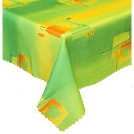 Forbyt, Ubrus s nešpinivou úpravou, Duha zelenožlutá, obdélník  160 x 220 cm