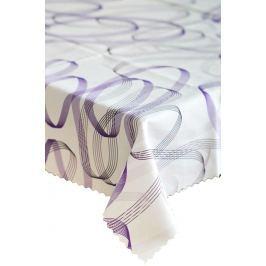 Forbyt, Ubrus s nešpinivou úpravou, Spirala fialová 120 x 160 cm