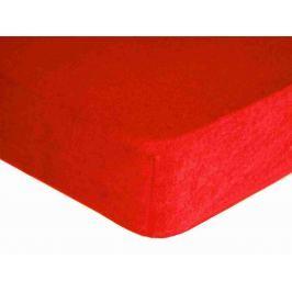 Forbyt, Prostěradlo, Froté Premium, červené 70 x 140 cm