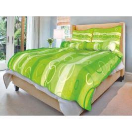 Forbyt, Povlečení bavlněné, Kola zelená, 140 x 200 cm + 70 x 90 cm 140 x 200 cm + 70 x 90 cm