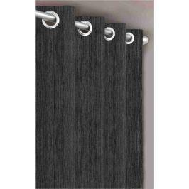 Forbyt, Dekorační látka nebo závěs, Blackout Žihaný, tmavě šedý, 150 cm