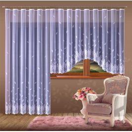 Forbyt, Hotová záclona nebo balkonový komplet, Nora, bílá 330 x 150 cm