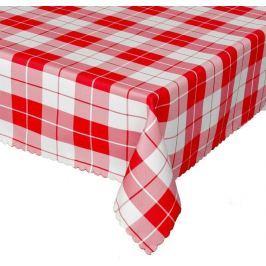 Forbyt, Ubrus s nešpínivou úpravou, Káro, červené 160 x 220 cm