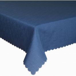 Forbyt, Ubrus s nešpinivou úpravou, Jednobarevný Deštík, tmavě modrý 120 x 140cm