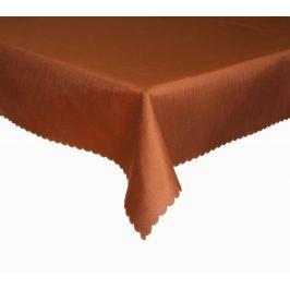 Forbyt, Ubrus s nešpinivou úpravou, Jednobarevný Deštík, hnědý 120 x 140cm