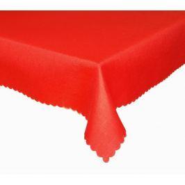 Forbyt, Ubrus s nešpinivou úpravou, Jednobarevný Deštík, červený 120 x 140cm