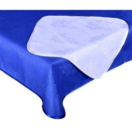 Forbyt, Ubrus s nešpínivou úpravou, Protiskluzový Růže komplet, modro-bílý, 1 ks + 4 ks