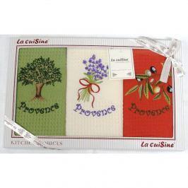 Forbyt, Dárkové balení 3 ks bavlněných utěrek, Provence, 50 x 70 cm