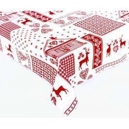 Forbyt, Ubrus bavlněný, Sobi, bílobordový 120 x 140cm