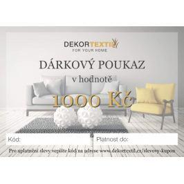 Dárkový poukaz elektronický v hodnotě 1 000 Kč