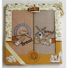 Forbyt , Dárkové balení 2 ks bavlněných utěrek, Snídaně, 50 x 70 cm