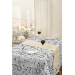 Forbyt,  Ubrus s nešpinivou úpravou, Večeře, šedý 100 x 140 cm