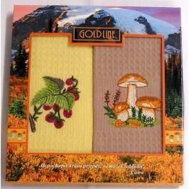 Forbyt , Dárkové balení 2 ks bavlněných utěrek, Houby 2, 50 x 70 cm