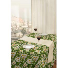 Forbyt, Ubrus s nešpinivou úpravou, Chryzantéma, zelený 100 x 140 cm
