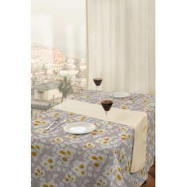 Forbyt, Ubrus s nešpinivou úpravou, Chryzantéma, bežový 100 x 140 cm