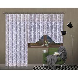 Forbyt, Hotová záclona nebo balkonový komplet, Moderna, bílá 300 x 140 cm