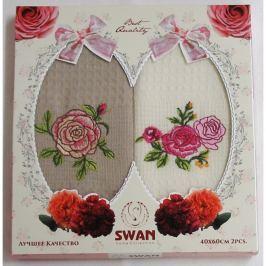 Forbyt , Dárkové balení 2 ks bavlněných utěrek, Růže, 50 x 70 cm