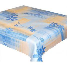 Forbyt, Ubrus s nešpinivou úpravou, Modré květiny 120 x 120 cm