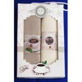 Forbyt, Dárkové balení 2 ks bavlněných utěrek, Coffe potisk, 50 x 70 cm
