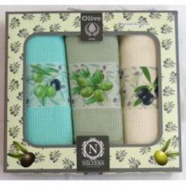 Forbyt, Dárkové balení 3 ks bavlněných utěrek, Olivy, 50 x 70 cm