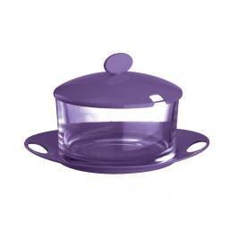 Nádoba s víkem a talířkem Hunbi Purple