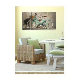 Sada 3 obrazů s hodinami Bike