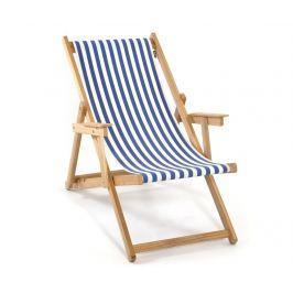 Skládací plážová židle Joy Striped Blue White