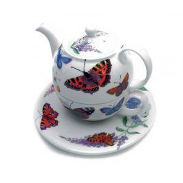 Sada čajník se šálkem a podšálkem Butterfly Garden