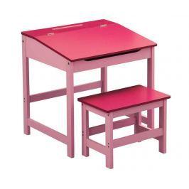 Sada psací stůl a židlička Julyan Pink