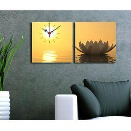 Sada 2 obrazů s hodinami Natures 28x28 cm