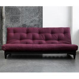 Rozkládací pohovka Fresh Wenge & Bordeaux 140x200 cm