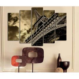 Sada 5 obrazů Eiffel