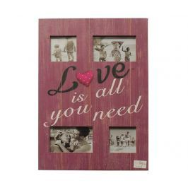 Rám na 4 fotografie Love is all you need