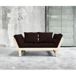 Rozkládací pohovka Beat Natural & Chocolate 75x200 cm