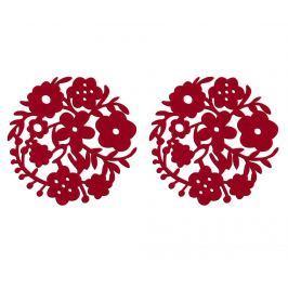 Sada 2 prostírání Red Flower 25 cm