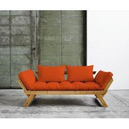 Rozkládací pohovka Bebop Honey & Orange 75x200 cm