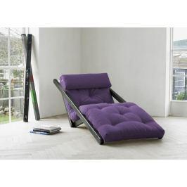 Rozkládací lehatko do obývačky Figo Wenge & Purple