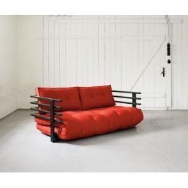 Rozkládací pohovka Funk Black & Red 160x190 cm