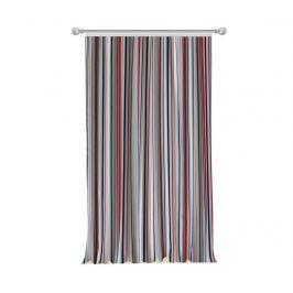Závěs Stripes Red Grey 140x270 cm