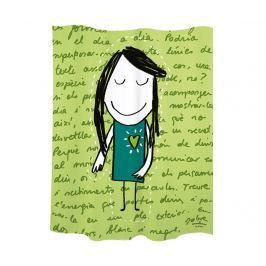 Sprchová záclona Little Girl Green 180x200 cm
